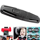 Car Seat Chest Harness Clip and Car Seat Safety Belt Clip Buckle Universal Replacement for Baby and Kids Trend, Adjustable Guard