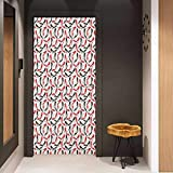 Onefzc Door Wall Sticker Red and Black Women Fashion Pattern with High Heel Stiletto Shoes Ladies Footwear Mural Wallpaper W36 x H79 Scarlet Black Beige