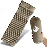 Legit Camping Sleeping Pad Camping Mat by The Most Comfortable Sleeping Mat - Rolls Up Tight - Air Support Cells Transform Your Camping Mattress and Camping Pad - Best Outdoor Sleep (Khaki)