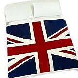 Echolife 60' x 79' Thick Winter Velvet Plush Throw Blanket for Sofa Couch Car Great (UK Flag)