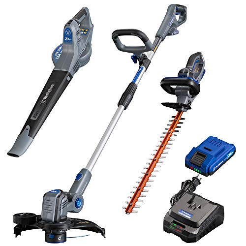 Westinghouse Cordless Weed Wacker/Edger, Blower and Hedge Trimmer, 2.0 Ah  Battery and Charger Included