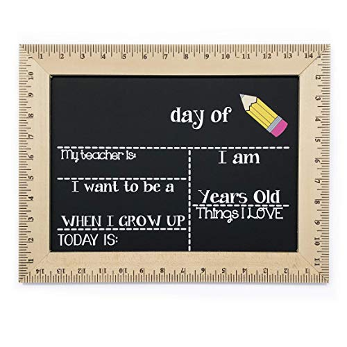 First Day Of School Chalkboard Pencil Reusable Sign Board With