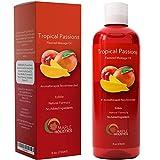 Natural Edible Massage Oil for Sensual Massage - Therapeutic Body Oil Skin Moisturizer for Glowing Skin - Anti Aging Skin Care with Nourishing Coconut Oil Sweet Almond Vitamin E and Jojoba Oil