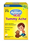Hyland's 4 Kids Tummy Ache Tablets, Natural Relief of Upset Stomach, Diarrhea and Gas for Children, 50 Count