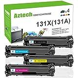 Aztech Compatible Toner Cartridge Replacement for HP 131X 131A CF210X CF210A CF211A CF212A CF213A (Black/Cyan/Yellow/Magenta, 4-Packs)