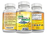 OMEGA 3 FISH OIL with EPA DHA 1000mg Softgels Vitamins, Heart Health Supplements, Eye, Joint Support No Fishy Aftertaste