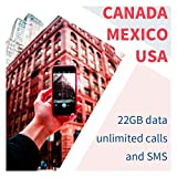 AT&T Prepaid Sim Card-Unlimited Talk, Text, and Data in USA Canada Mexico
