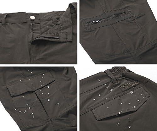 Nonwe Women's Outdoor Water-Resistant Quick Drying Lightweight Cargo Pants 5