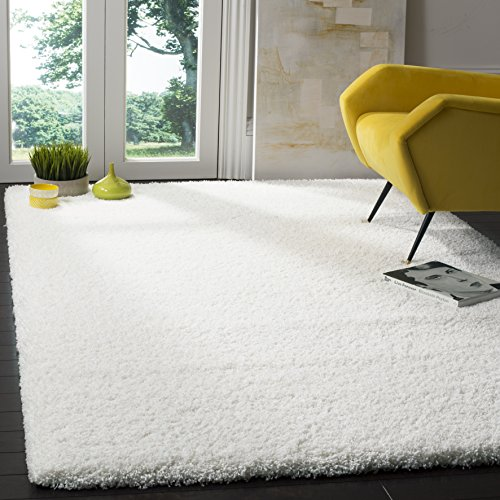 Safavieh California Premium Shag Collection SG151-1010 White Area Rug (3' x 5')