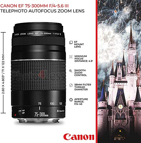 Canon-EOS-Rebel-T7-DSLR-Camera-EF-S-18-55mm-f35-56-IS-II-EF-75-300mm-f4-56-III-Lens-Telephoto-500mm-f80-T-Mount-Lens-Long-2x-64GB-Memory-Card-Canon-EOS-Bag-Canon-Backpack-Tripod