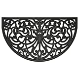 Achim Home Furnishings WRM1830IW6 Ironworks Wrought Iron Rubber Door Mat, 18 by 30'