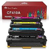 Toner Kingdom Compatible Toner Cartridges Replacement for HP 410A CF410A CF411A CF412A CF413A Color Laserjet Pro MFP M477fdw M477fdn M477fnw Pro M452dn M452nw M452dw Printer (4 Pack)