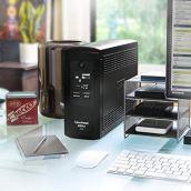 CyberPower-CP850AVRLCD-Intelligent-LCD-UPS-System-850VA510W-9-Outlets-AVR-Mini-Tower-Black
