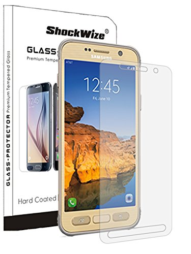 ShockWize [1 Pack] [Tempered Glass] .3mm Thin Ballistic Premium Real Glass Screen Protector for Samsung Galaxy S7 ACTIVE (AT&T) (NOT FOR REGULAR S7), Clear