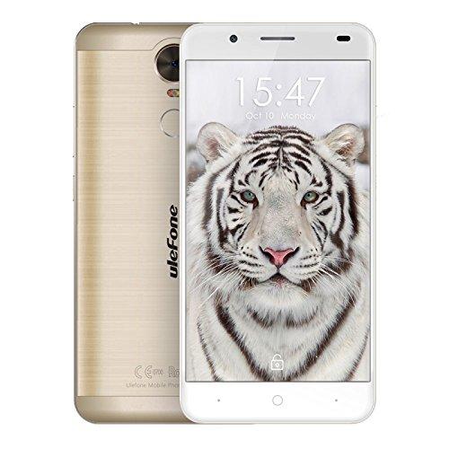 Ulefone Tiger 16GB ROM 5.5 inch Android 6.0 Smartphone, MT6737 Quad Core 1.3GHz, 2GB RAM GSM & WCDMA & FDD-LTE (Gold)
