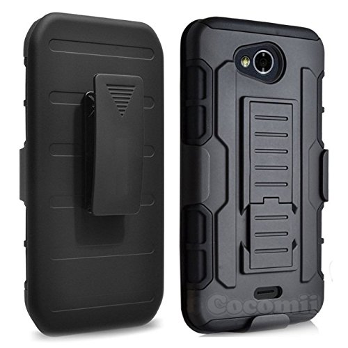 For Kyocera Hydro Wave Case, Cocomii Robot Armor NEW [Heavy Duty] Premium Belt Clip Holster Kickstand Shockproof Hard Bumper Shell [Military Defender] Full Body Dual Layer Rugged Cover C6740 (Black)