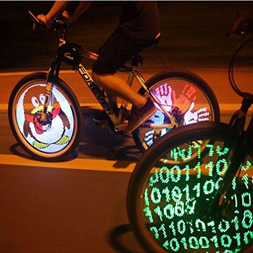 Pesp Cdycam 128 RGB LED Bicycle Spokes Lights Color Changing Programmable Waterproof Bicycle Light Spoke Wheel Light Bike Light Lamp