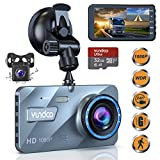 Dual Dash Cam Car Camera - Contain 32GB SD Card,Full HD 1080P Dash Camera for Cars,4'IPS Screen Dual Wide Angle Lens Car Dash Camera,G-Sensor,Cycle Recording,Parking Monitoring.(2019 Upgraded Version)