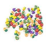 Lovely 50 Pcs Novelty Fruit Pencil Eraser Stationery For Kids Children Gift Toy