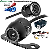 TOPTIERPRO Upgraded Mini Backup Camera 170° Viewing Angle Multi-Function Car Reversing Rear View/Side View/Front View & Security Pinhole Spy Camera (TTP-C12B)
