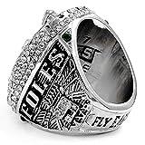 Zoga New Philadelphia Eagles Ring, Super Bowl LII World Foles and Wentz Championship Replica Ring (11, Foles)