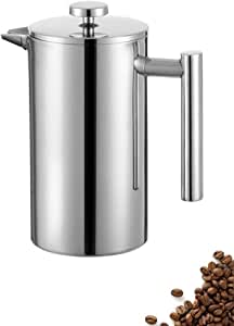 Lsmaa Acero Inoxidable French Press Cafetera, de Pared