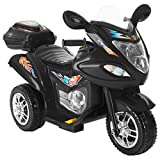 Lil' Rider Ride-On Toy Trike Motorcycle -Battery Operated Electric Tricycle for Toddlers with Built-in Sound and Working Headlights (Black)