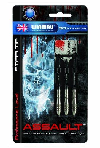 Winmau Assault 90% Tungsten Professional Level Steel Tip Darts (24-Gram)