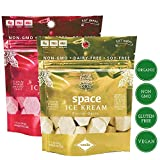 Seva Foods 2-Pack Organic Vanilla & Strawberry Space Ice Kream (Healthy Freeze Dried Astronaut Ice Cream) Vegan Non Dairy, 3 oz Total Weight - 20 Pieces