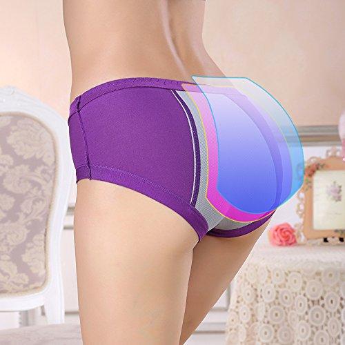 Women Leak Proof Underwear for Menstrual Period/Postpartum Bleeding/Incontinence(2B,M) Black
