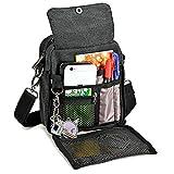 Zicac Men's Small Vintage Multipurpose Canvas Shoulder Bag Messenger Bag Purse Crossbody Shoulder Bag Crossbody Bags(Black)