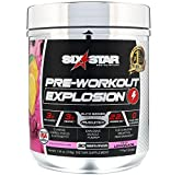 Six Star Explosion Pre Workout, Powerful Pre Workout Powder with Extreme Energy, Focus and Intensity