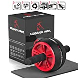 Ab Roller, Ab Wheel, Ab Abs Roller Wheel Kit Fitness Core Roller Wheels Machine with Knee Pad and Soft Handles Ab Roller Wheel for Men Women Core Strength Exercise Gymnastics Home Gym