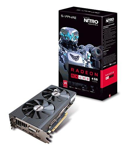 Sapphire Radeon NITRO Rx 480 4GB GDDR5 Dual HDMI / DVI-D / Dual DP OC w/ backplate (UEFI) PCI-E Graphics Card 11260-13-20G