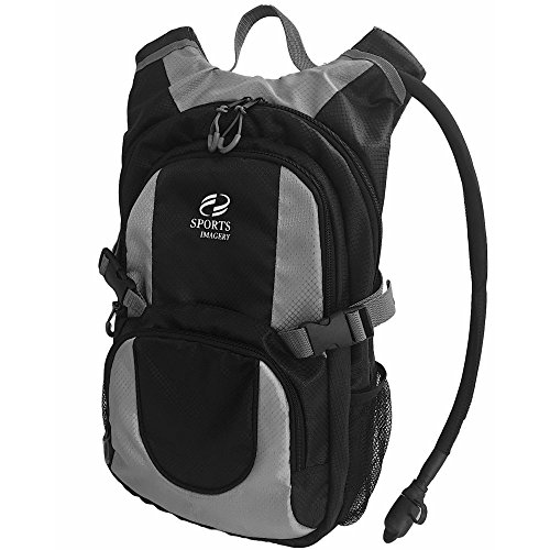 Sports Imagery-Hydration Backpack, 3 Liter - Black and Gray