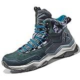 Rax Men's Wild Wolf Mid Venture Waterproof Lightweight Hiking Boots,Carbon Black,10.5 D(M) US