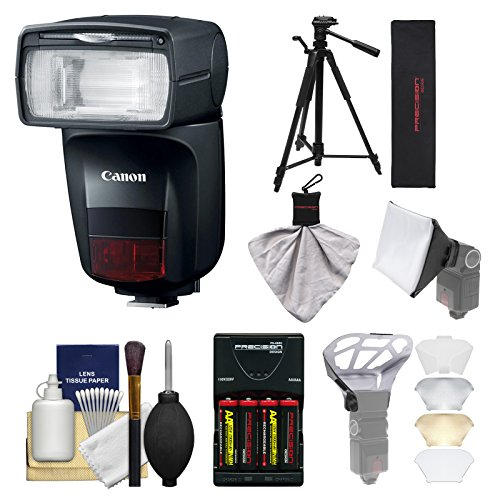 Canon Speedlite 470EX-AI Bounce Flash with Softbox + Diffuser + Tripod + Battery & Charger Kit