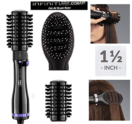 INFINITIPRO BY CONAIR Spin Air Rotating Styler/Hot Air Brush, 2-inch, Black