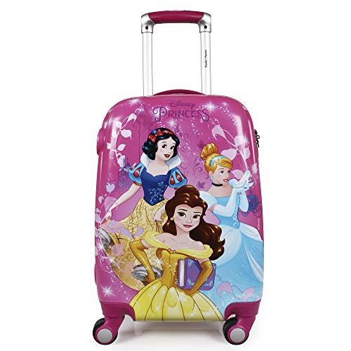 51wIqxpikZL - Humty Dumty Disney Princess Group Pink Polycarbonate 18 Inch / 45.7 cm Kids Hard Luggage Trolley Bag | Travel Bag