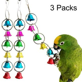 Bells Bird Toy Colorful Chewing Hanging Cage Bite 2