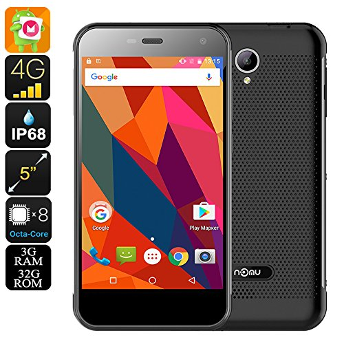 Nomu S20 Rugged Smartphone - Android 6.0, IP68, Dual-IMEI, 4G, Quad-Core CPU, 3GB RAM (Silver)