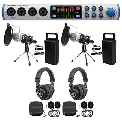 Presonus-2-Person-Podcast-Podcasting-Kit-1810-InterfaceMicsStandsPop-filters