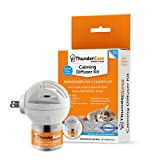 ThunderEase Cat Calming Pheromone Diffuser Kit - Reduce Scratching, Urine Spraying, Marking and Anxiety (30 Day Supply)