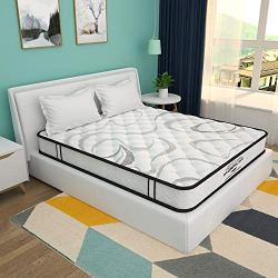 8 Inch Queen Mattress, Memory Foam and Innerspring Hybrid Mattress in a Box, Medium Firm Feel, Motion Isolation, Breathable & Pressure Relief Bed Mattress, Risk-Free 100 Night Trial