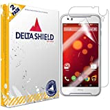 DeltaShield Full Body Skin for HTC Desire 830 (2-Pack)(Screen Protector Included) Front and Back Protector BodyArmor Non-Bubble Military-Grade Clear HD Film