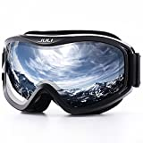 JULI OTG Ski Goggles-Over Glasses Ski / Snowboard Goggles for Men, Women & Youth - 100% UV Protection Anti-fog Dual Lens(Black Frame+15%VLT Colorful Len)
