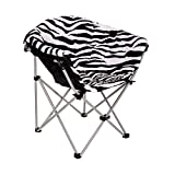 Product review for Folding Saucer Moon Chair Short Plush Faux Fur Padded Club Seat Adult Size (Zebra)