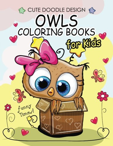 Owls Coloring Books For Kids Boys Girls 2