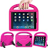 LEDNICEKER Kids Case for iPad Mini 1 2 3 4 5 - Light Weight Shock Proof Handle Friendly Convertible Stand Kids Case for iPad Mini, Mini 5 (2019), Mini 4, iPad Mini 3rd Gen, Mini 2 - Magenta/Rose