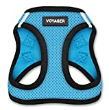 Voyager All Weather No Pull Step-in Mesh Dog Harness with Padded Vest, Best Pet Supplies, Small, Baby Blue Base